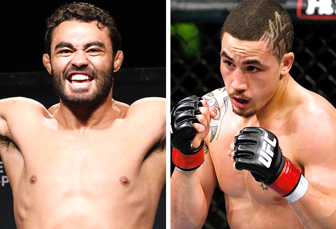 "Montagem Rafael ""Sapo"" Natal e Robert Whittaker UFC  (Foto: Editoria de arte)"