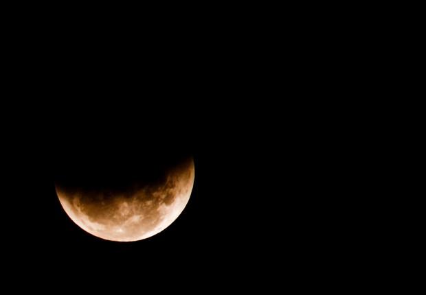 Elipse lunar (Foto: Reprodução/Facebook)