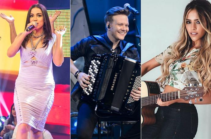 Anitta, Michel Teló e Gabi Luthai dão dicas para as bandas do SuperStar (Foto: Globo/ Paulo Belote / Ramón Vasconcelos / Arquivo pessoal )
