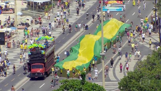 Manifestantes vão às ruas pela Lava Jato e contra a corrupção
