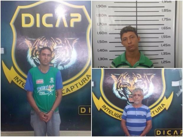 Fugitivos foram capturados em residências e em vbia pública (Foto: Divulgação/ Dicap)