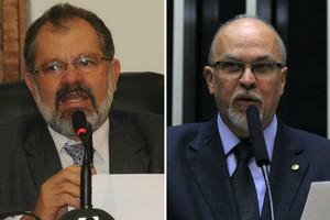O deputado estadual Marcelo Nilo (PDT-BA) e o deputado federal Mário Negromonte (PP-BA) (Foto: Assessoria Alba/ Zeca Ribeiro/ Câmara dos Deputados)
