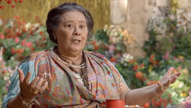 Será que Mãe Benta sabe de algum segredo?  (Foto: Meu Pedacinho de Chão/TV Globo)