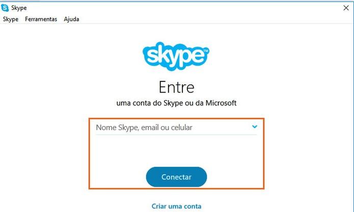 Acesse sua mesma conta Skype pelo computador ou celular (Foto: Reprodução/Barbara Mannara)