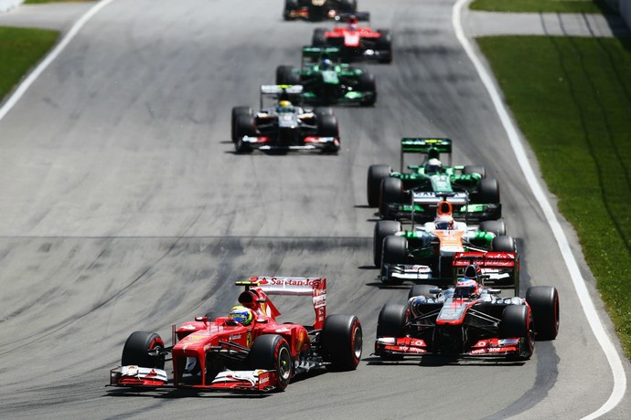 Felipe Massa ultrapassou diversos adversários no GP do Canadá de Fórmula 1 (Foto: Getty Images)