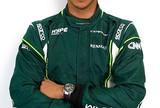 André Lotterer, piloto da Caterham no GP da Bélgica