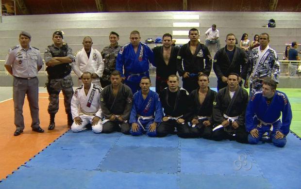 Policiais do Bope na graduação do jiu-jitsu (Foto: Reprodução/TV Amapá)