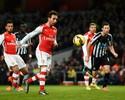 Com cavadinhas de Cazorla, Arsenal goleia o Newcastle e fica perto de G-4