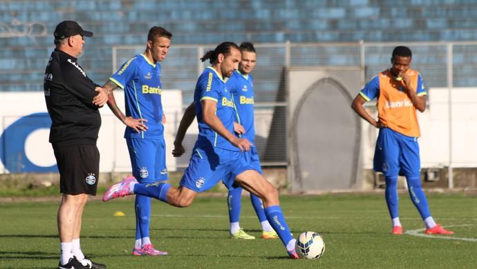 Grêmio treina no Olímpico (Foto: Eduardo Deconto/GloboEsporte.com)