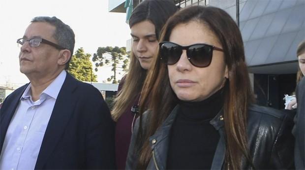 A empresária Mônica Moura (à direita) (Foto: Agência Brasil)