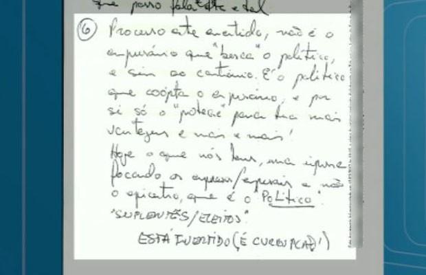Plastino afirma em carta que políticos buscam empresários em busca de favorecimentos (Foto: Reprodução/EPTV)