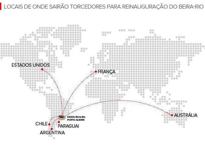 inter beira-rio torcedores mundo (Foto: Editoria de Arte/Globoesporte.com)