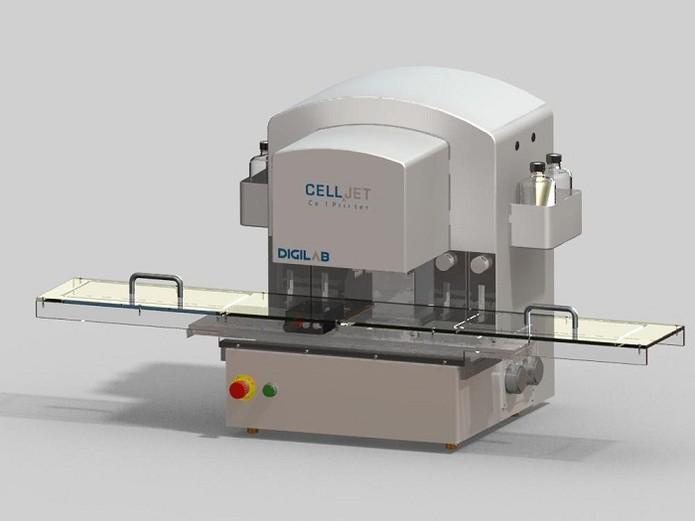 Máquina utilizada para bioimpressão (Foto: Divulgação/CellJet)