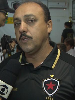 Zezinho do Botafogo, novo presidente do Botafogo-PB (Foto: Reprodução / TV Cabo Branco)