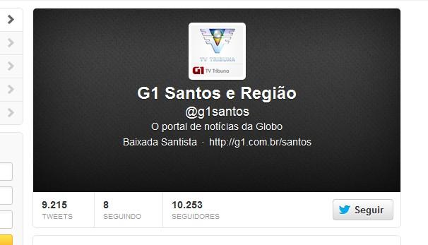 Twitter G1Santos (Foto: Divulgação)