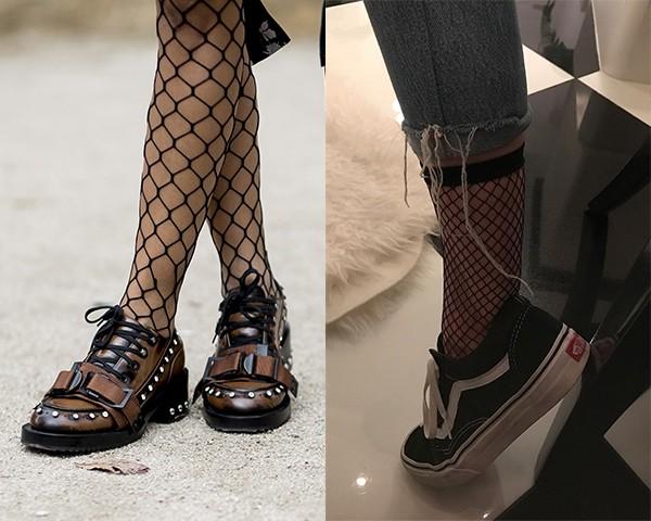 Na moda de rua, com sapatos oxford, e no look de Kendall Jenner, com tênis Vans (Foto: Imaxtree/Instagram/Reprodução)