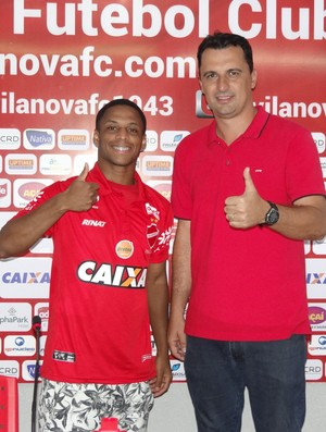 Foguete, lateral do Vila Nova (Foto: Reprodução/TV Anhanguera)