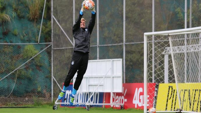 Douglas Friedrich goleiro Grêmio (Foto: Eduardo Moura/GloboEsporte.com)