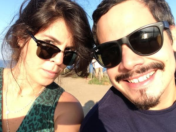 Bella e o esposo, Bruno Lins.  (Foto: Arquivo pessoal)
