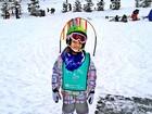 Rafa Justus esquia pela primeira vez e Ticiane Pinheiro registra tudo