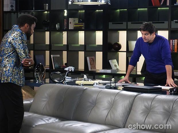 Jonas mente para Brian e diz que Verônica não teve importância para ele (Foto: Geração Brasil / TV Globo)