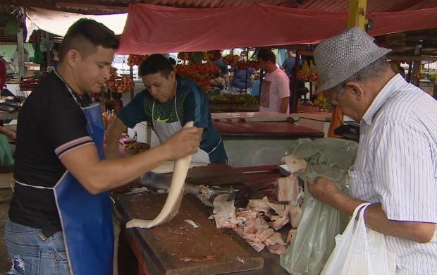 Feiras de Macapá se preparam para alta procura de pescado (Foto: Bom Dia Amazônia)