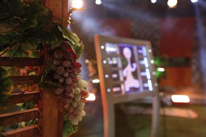 Temos uvas, mas temos também a nossa máquina de música para agitar a Festa (Foto: Raphael Dias/Gshow)