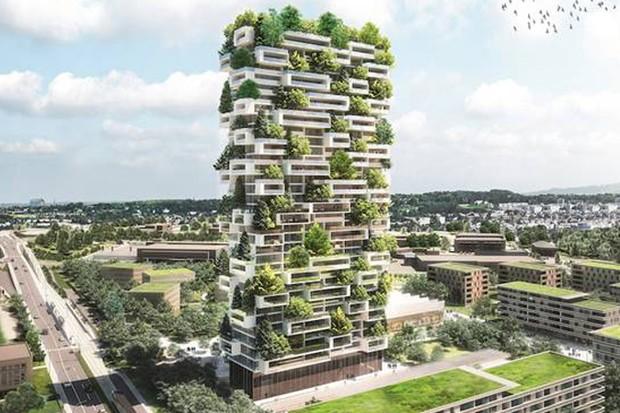 Floresta vertical na Suíça (Foto: divulgação)