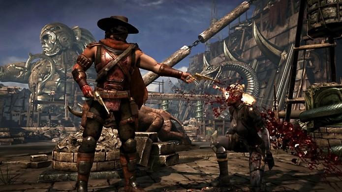 O pistoleiro Erron Black aparece eliminando seu inimigo com um Brutality (Foto: Reprodução/Junkie Monkeys)