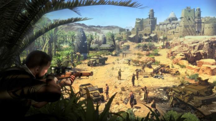Em Sniper Elite 3 atirar e matar seu alvo é tão importante quanto se esconder e sobreviver após o tiro (Foto: Reprodução/Steam)
