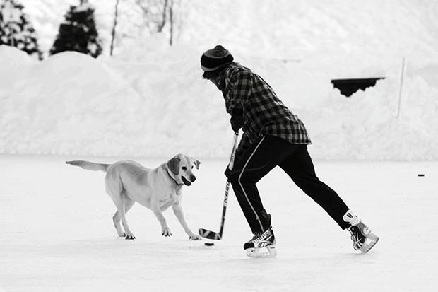 Oskar e Leonardo Metsavaht em Aspen (Foto: Divulgação)