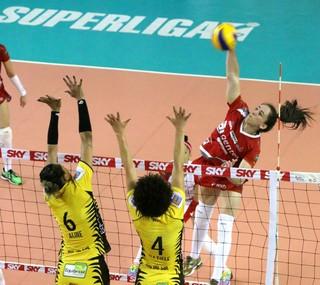 Rio do Sul x Vôlei Bauru, Superliga feminina, Thaisinha (Foto: Clóvis Eduardo Cuco / Rio do Sul)