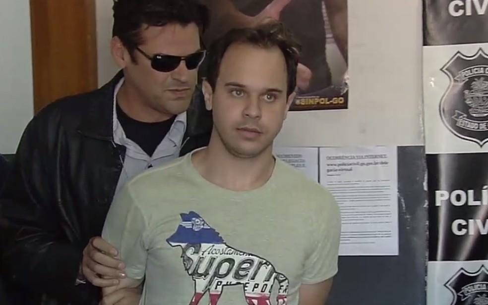 Thales Câncio Carvalho é suspeito de causar prejuízo de R$ 10 milhões com golpes (Foto: Reprodução/TV Anhanguera)