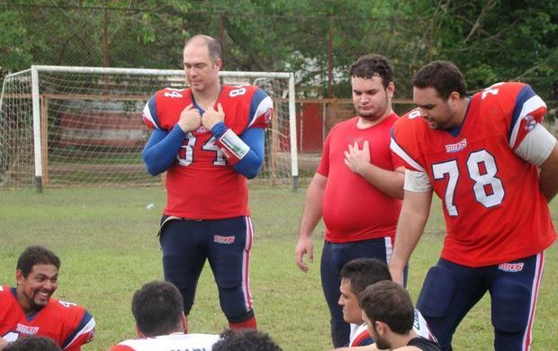 Cliff Parker acumula as funções de jogador e técnico do Titans (Foto: Arquivo Pessoal)