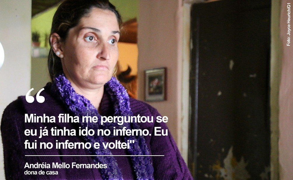 Andréia consumiu drogas por quase 30 anos (Foto: Joyce Heurich/G1)