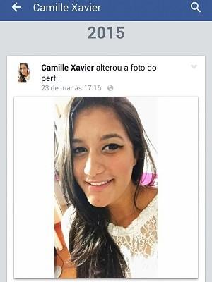A estudante Camille Barroco Xavier (Foto: Facebook/Reprodução)