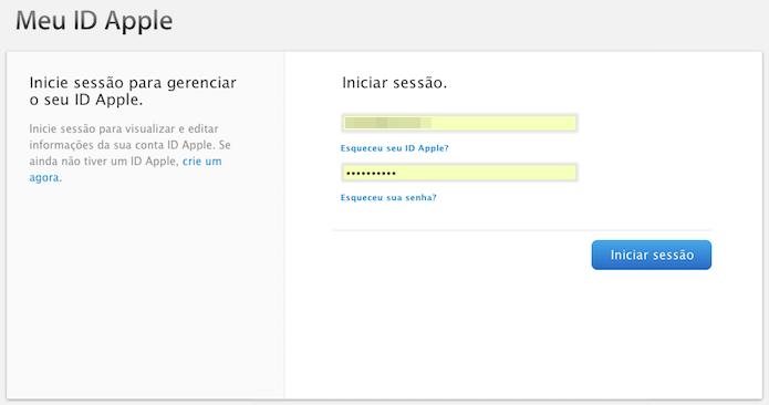 Apple ID  Como mudar a senha do iCloud   Dicas e Tutoriais   TechTudo 1766c997e6