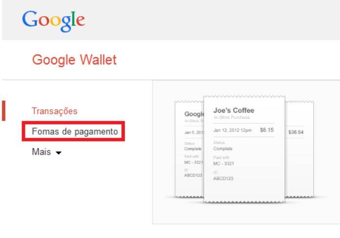Formas de pagamento do Google Play (Foto: Reprodução/Lívia Dâmaso)