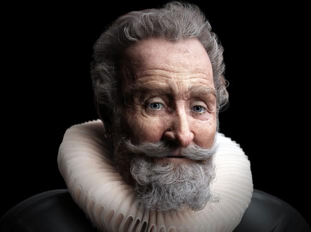 Imagem do rosto do rei reconstruída (Foto: AFP)