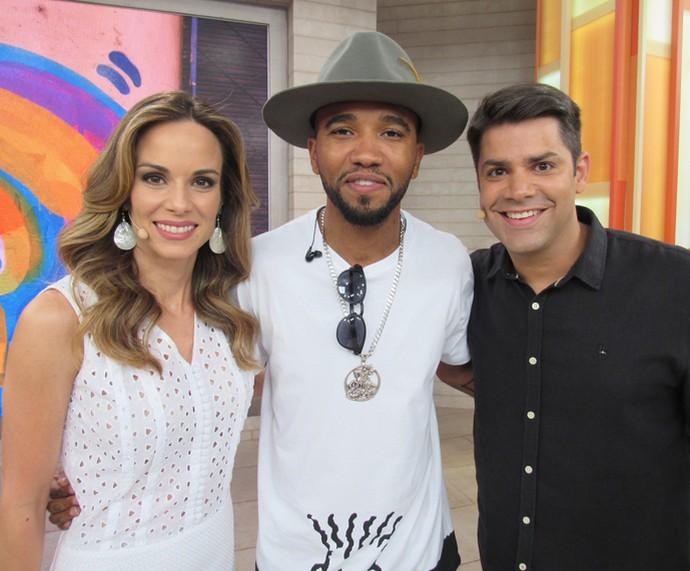 Flávio Renegado ficou responsável pela música do Encontro (Foto: Priscilla Massena/Gshow)