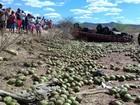 Caminhão com carga de coco capota e deixa mortos e feridos na Paraíba