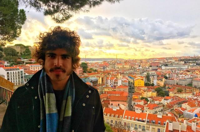 Caio Castro em Lisboa (Foto: Arquivo pessoal)
