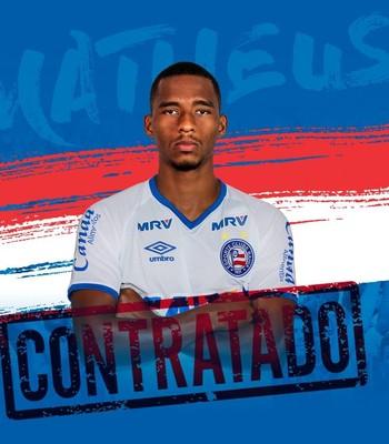 Matheus Sales é anunciado pelo Bahia (Foto: Divulgação / E.C. Bahia)