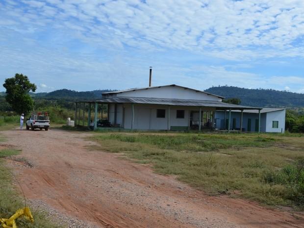 Laticínio localizado no distrito de Nova Conquista (Foto: Jonatas Boni/G1)