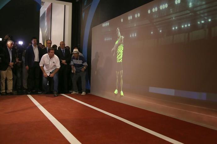 Eduardo Paes na coletiva de um mês para os Jogos do Rio  (Foto: Ricardo Cassiano/Prefeitura do Rio)