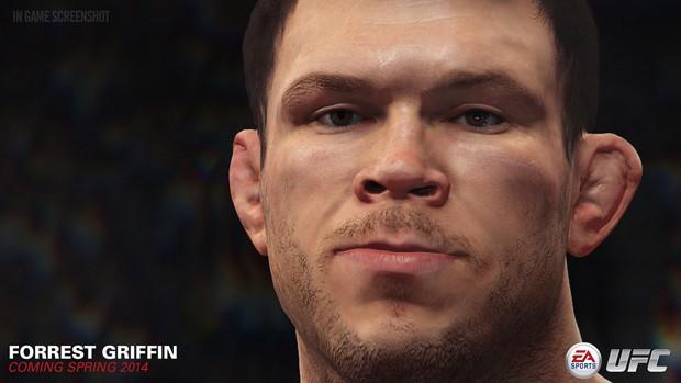 Ex-campeão dos meio-pesados Forrest Griffin estará em novo game 'UFC' (Foto: Divulgação/EA Sports)