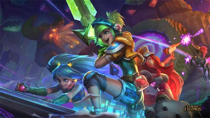 Skins Fliperama invadem League of Legends (Foto: Divulgação/Riot Games)