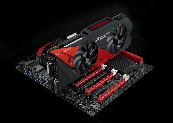 ROG MARS 760 conta com duas GPUs em uma única peça (Foto: Divulgação/Asus)