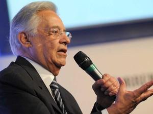 15 de outubro - Fernando Henrique Cardoso durante a Assembleia Geral da Sociedade Interamericana de Imprensa (Foto: Flavio Moraes/G1)