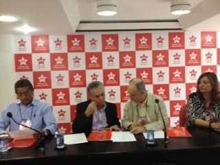 Reunião da Executiva do PT, em São Paulo, começou no início da tarde desta quinta (10) (Foto: Amanda Previdelli/G1)